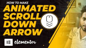 Animated Scroll Down Arrow With Elementor